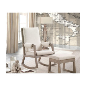 Baby Room in Sugar Cane with rocking chair with beige cushions