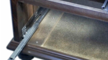 drawer glides close up