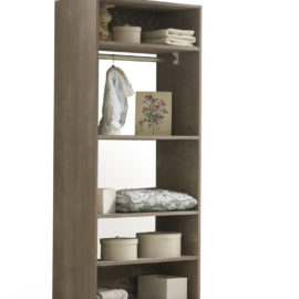 Brown wooden UnMess Convertible Wardrobe System