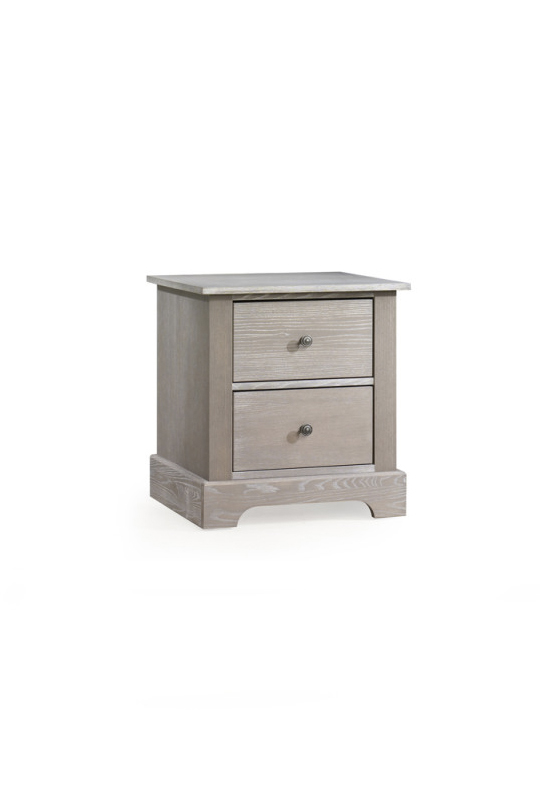 Emerson Wooden nightstand with two drawers