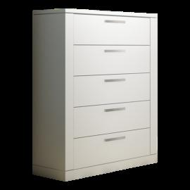 Milano 5 Drawer Dresser White