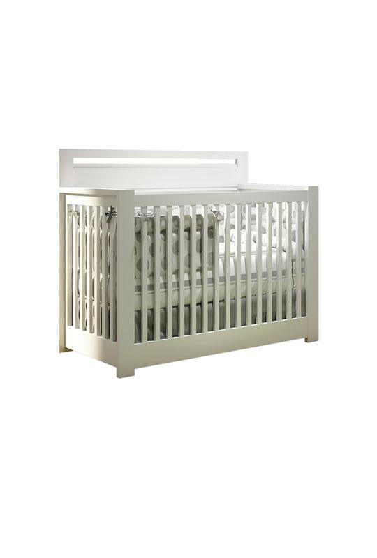Milano sleek white crib