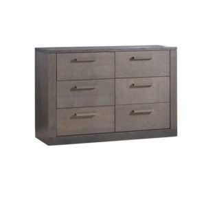 Milano dark wooden double dresser