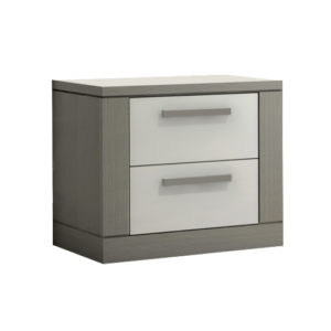 Milano nightstand with two white drawers