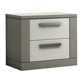 Milano Nightstand with two drawers with white facades