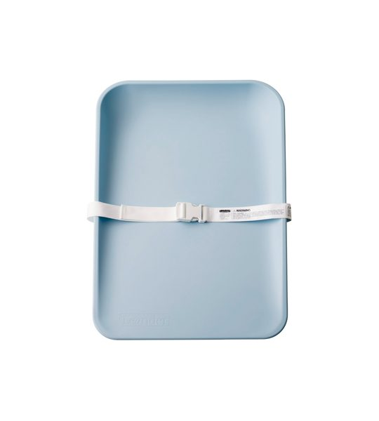 Matty changing tray in blue with white strap