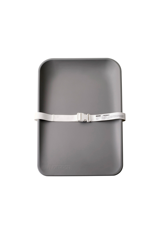 Matty changing tray in grey with white strap