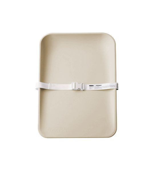 Matty sleek changing mat in cappuccino colour with white strap