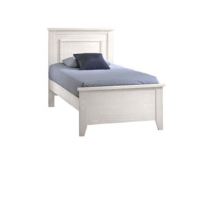 Classic wooden white twin bed