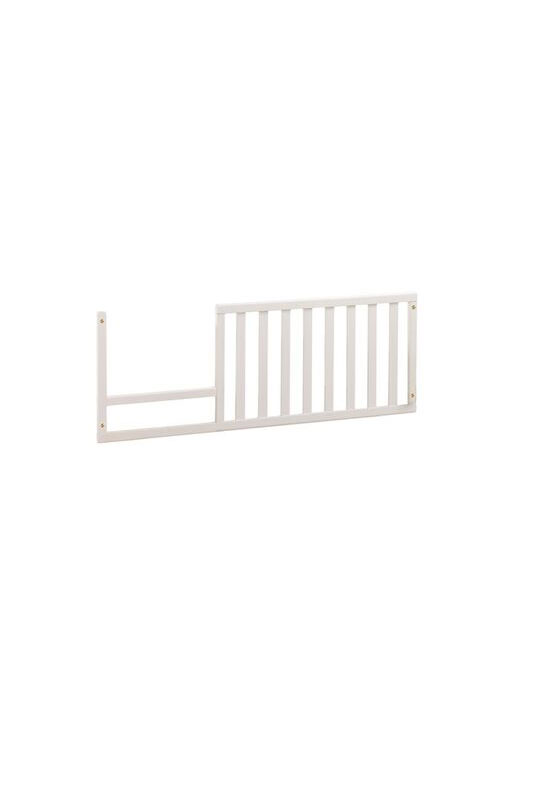 wooden toddler gate in white