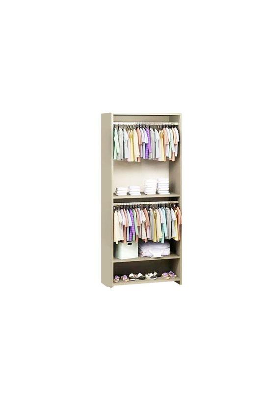 Unmess beige wooden wardrobe system
