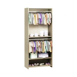 Beige Wooden UnMess Convertible Wardrobe System