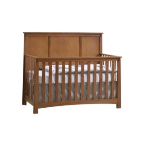 Brown Wooden Crib in autumn color