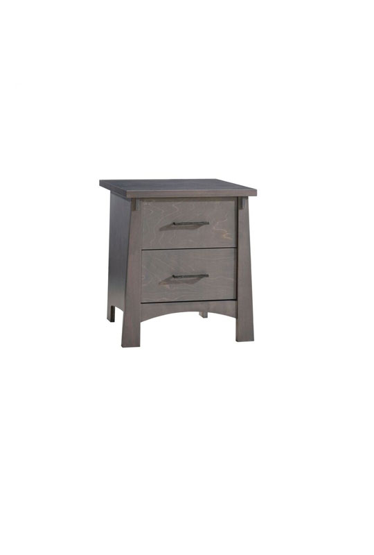 Bruges dark wood nightstand with two drawers