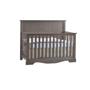 Matisse dark wood crib in grigio