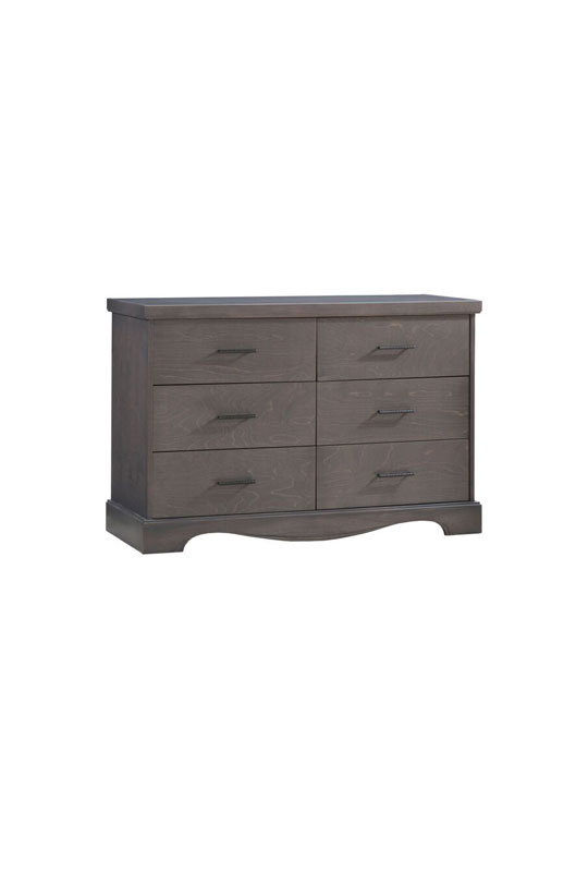 matisse dark wood double dresser