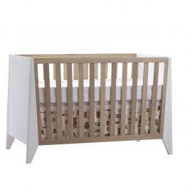 Flexx Classic Crib in White and Natural Wheat