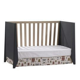 Flexx Classic Crib as daybed in Graphite and Natural wheat