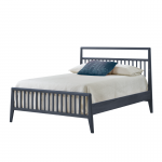 Graphite wood double bed