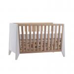 Flexx white and natural oak wood crib