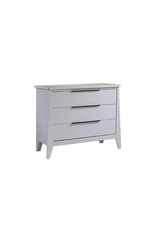 Flexx white 3 drawer dresser