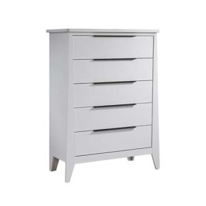 Flexx 5 drawer dresser in white