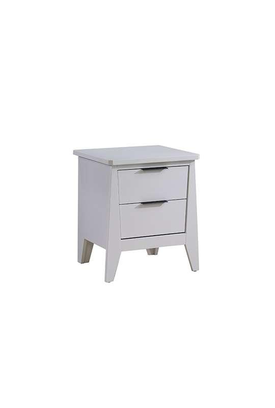 white flexx 2 drawer nightstand