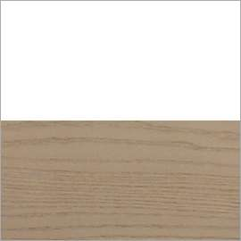 Half White and Natural Wheat wood swatch
