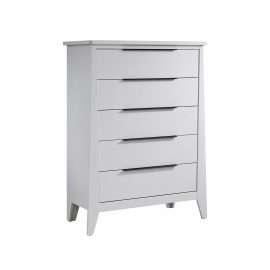 flexx white 5 drawer dresser