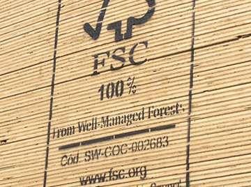 FSC certified wood planks