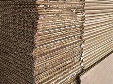 stack of cardboard planks