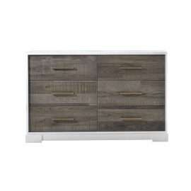 NE5536 Vibe Double Dresser in White/Brown Bark