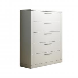 Milano 5 Drawer Dresser in White