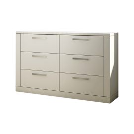 Milano Double Dresser in White